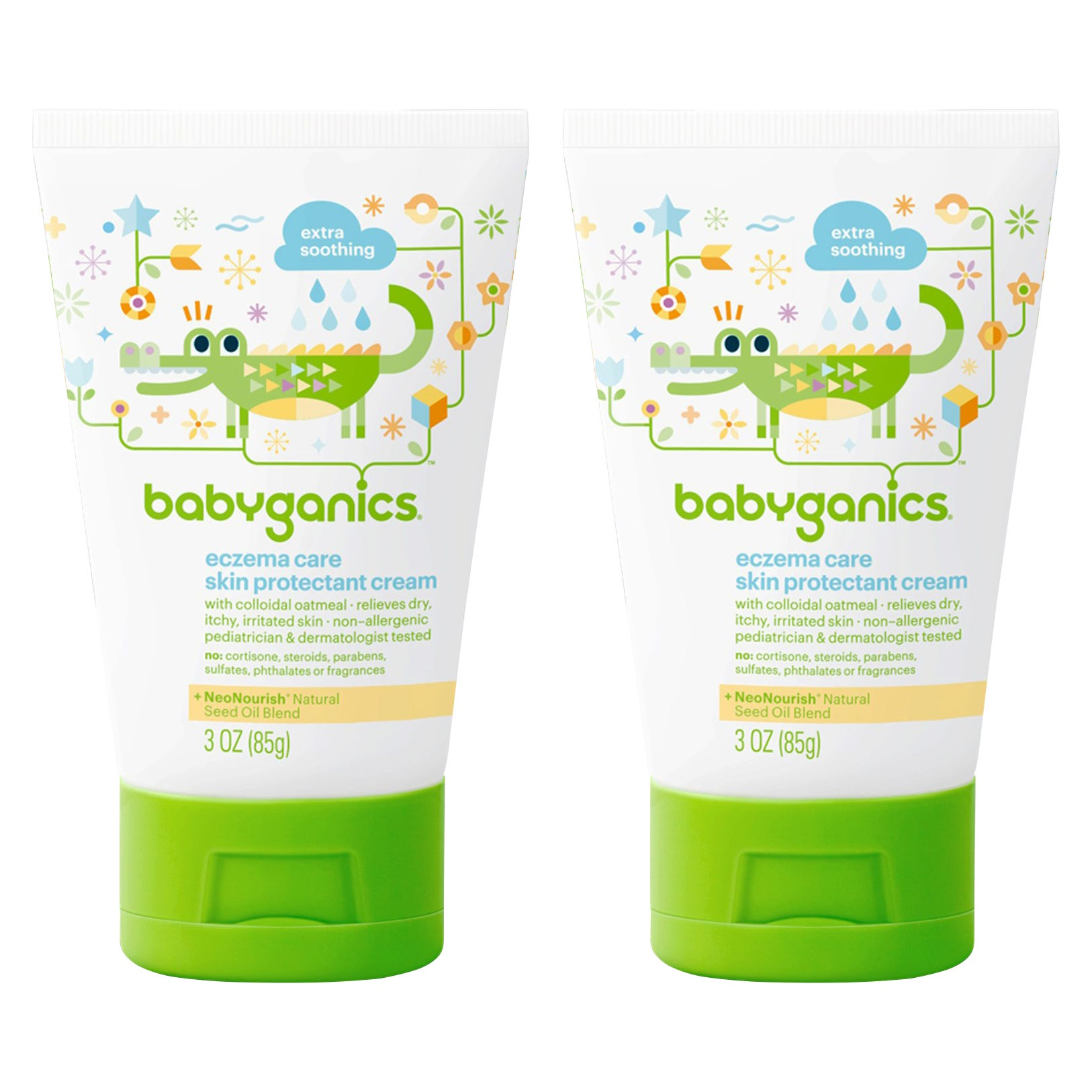 BabyGanics Eczema Care Skin Protectant Cream, 3 oz (2- Co...