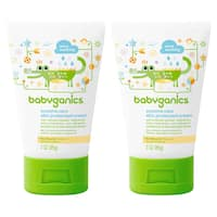 Babyganics Eczema Care Skin Protectant Cream, 3 oz (2- Count), Packaging May Vary