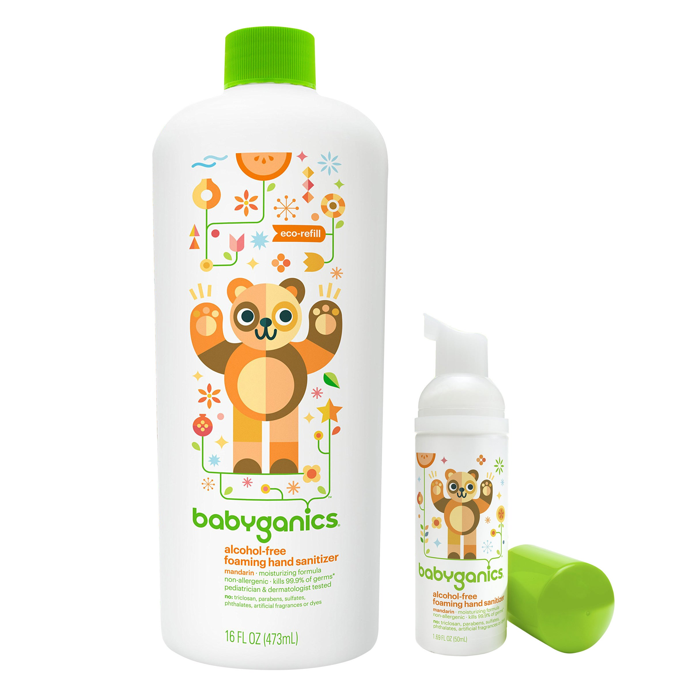 BabyGanics Foaming Hand Sanitizer for On-The-Go with 16 O...