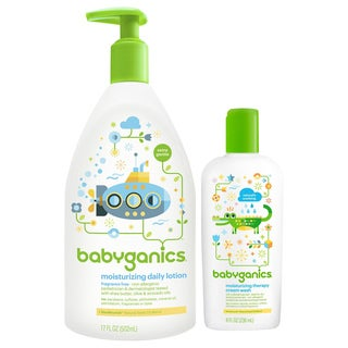 Babyganics Moisturizing Therapy Cream Wash with Daily Lotion