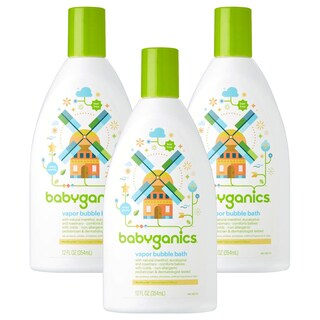 Babyganics Vapor Bubble Bath Bundle - 3 Items: 12 Oz Bottles