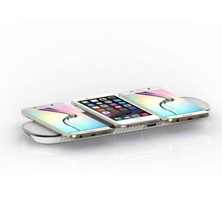iPM 3 in 1 Wireless Fast Charging Pad with 2 USB Ports - White