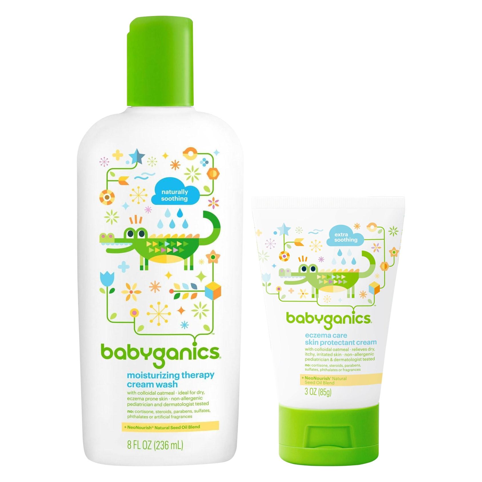 BabyGanics Moisturizing Therapy Cream Wash with Eczema Cr...