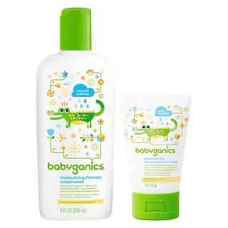 Babyganics Moisturizing Therapy Cream Wash with Eczema Cream