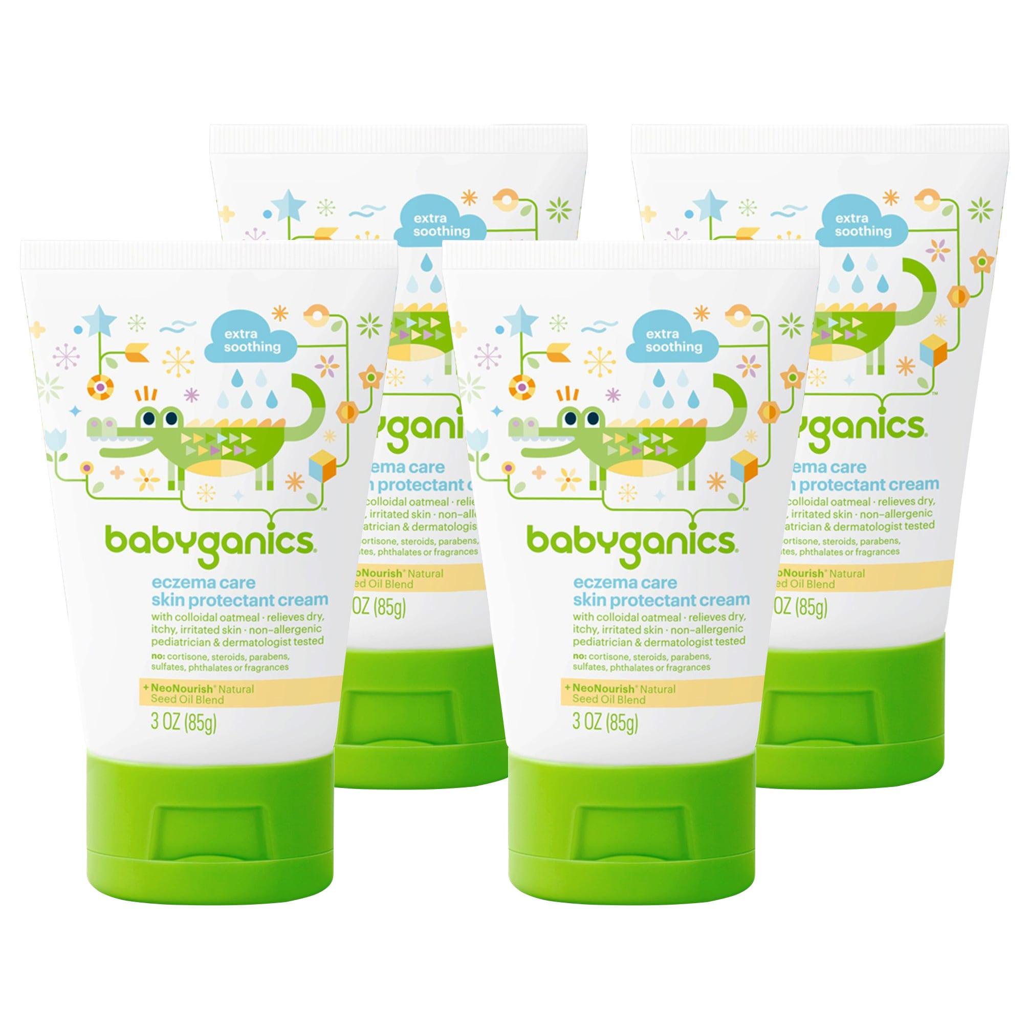 BabyGanics Eczema Care Skin Protectant Cream, 3 Ounce, 4 ...