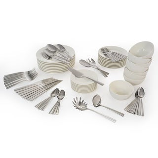 Oneida Chef's Table Entertainment Complete 81-Pc Dinnerware and Flatware Set