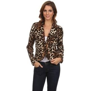 Women's Leopard Pattern Blazer Style Jacket