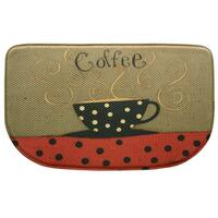 """Printed memory foam Coffee Cup kitchen rug by Bacova - 1'6"""" x 2'6"""""""