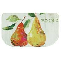 "Printed memory foam Poire kitchen rug by Bacova - White/Green - 1'6"" x 2'6"""