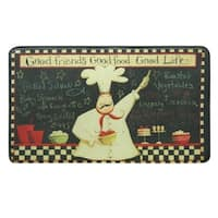 "Printed memory foam Good Life kitchen rug by Bacova - 1'10"" x 2'11"""