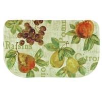 "Printed memory foam Rustic Fruit II kitchen rug by Bacova - Ivory/Green - 1'6"" x 2'6"""