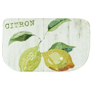 "Printed memory foam Citron kitchen rug by Bacova - 1'6"" x 2'6"""