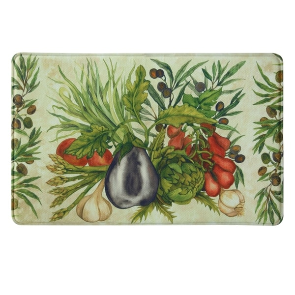 "Printed memory foam Trattoria kitchen rug by Bacova - 1'10"" x 2'11"""