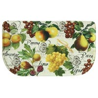 "Printed memory foam Botanical Fruit kitchen rug by Bacova - 1'6"" x 2'6"""