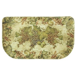 """Printed memory foam Antique Grapes kitchen rug by Bacova - 1'6"""" x 2'6"""""""