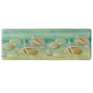 "Printed memory foam Horizon Shells kitchen runner by Bacova - 1'11"" x 3'11"""