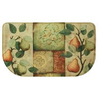 """Printed memory foam Les Poires kitchen rug by Bacova - 1'6"""" x 2'6"""""""