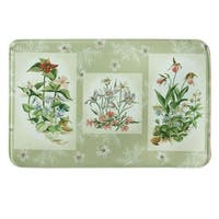 """Printed memory foam Three Bouquets kitchen rug by Bacova - 1'10"""" x 2'11"""""""