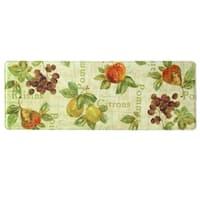 "Printed memory foam Rustic Fruit II kitchen runner by Bacova - 1'11"" x 3'11"""