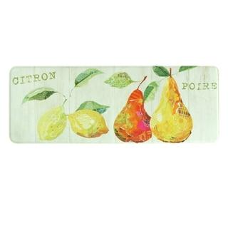 "Printed memory foam Citron Et Poire kitchen runner by Bacova - 1'11"" x 3'11"""
