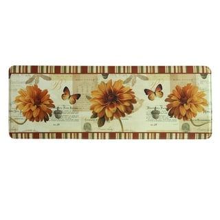 "Printed memory foam Fall in Love kitchen runner by Bacova - 1'11"" x 3'11"""