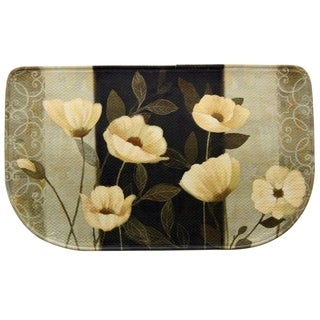 """Printed memory foam Midnight Poppies kitchen rug by Bacova - 1'6"""" x 2'6"""""""