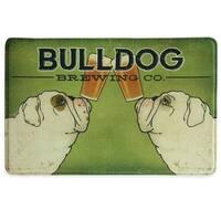 "Printed memory foam Bulldog Brewing Co. kitchen rug by Bacova - 1'10"" x 2'11"""