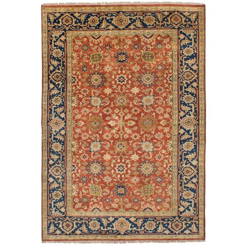eCarpetGallery Serapi Heritage Brown Wool/Cotton Hand-knotted Rug (6'0 x 8'11)