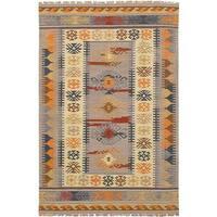 eCarpetGallery Esme Multicolored Wool Flatweave Kilim Rug (5' x 8') - 5' x 8'