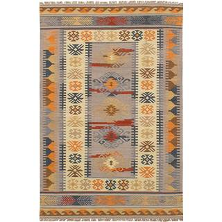 eCarpetGallery Esme Multicolored Wool Flatweave Kilim Rug