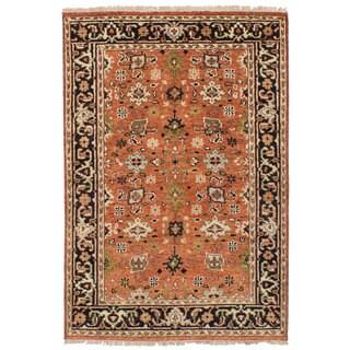 eCarpetGallery Serapi Heritage Brown Wool Hand-knotted Rug (4'1 x 6')