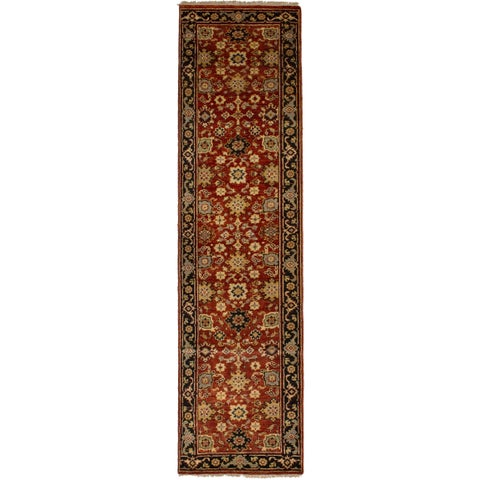 eCarpetGallery Red Wool Hand-knotted Serapi Heritage Runner Rug - 2'7 x 10'3