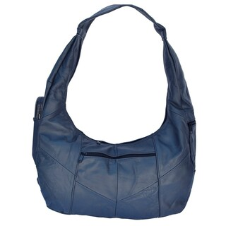 AFONiE Soft Leather Hobo (Option: Navy)