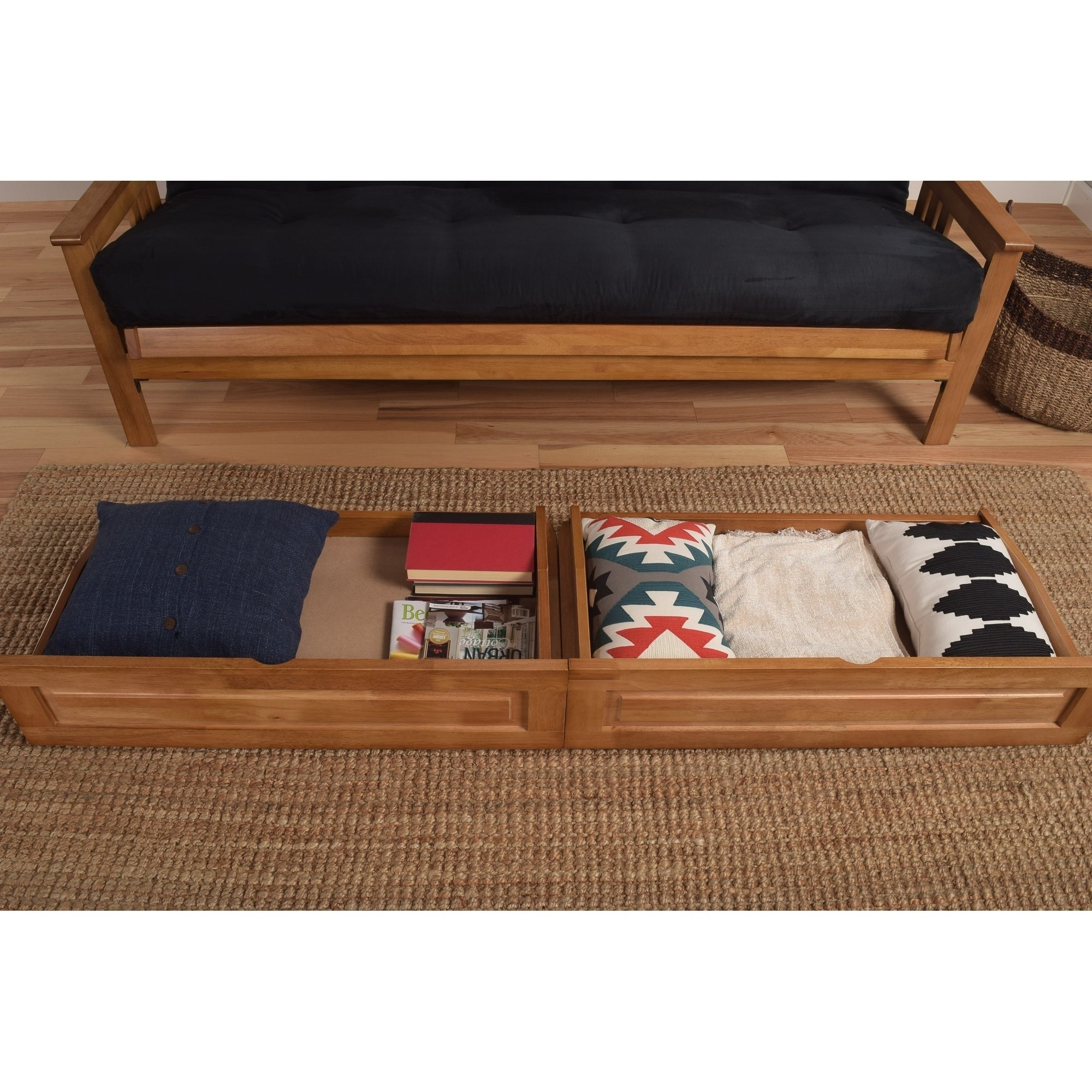 Porch Den Dent Full Size Futon Storage Drawers