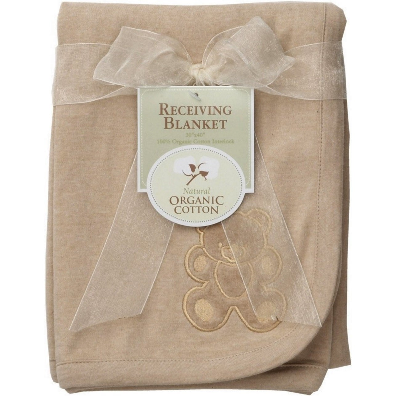 American Baby Organic Receiving Blanket Embroidery Blanke...