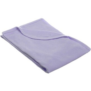 American Baby Company 100 Percent Cotton Thermal Blanket - Lavender - 2 Pack
