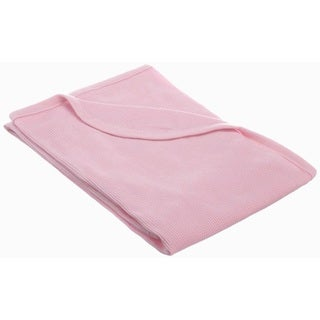 American Baby Company 100 Percent Cotton Thermal Blanket - Pink - 2 Pack