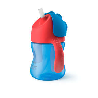 Philips Avent My Bendy Straw Cup - 7 Ounce - Blue/Red