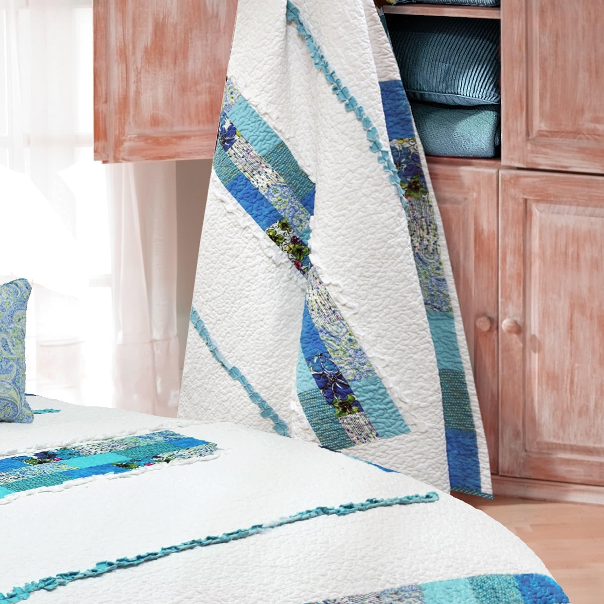 Donna Sharp Havana Stripe Throw (Machine Wash), Multi
