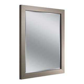 Headwest Modern Brush Nickel Wall Mirror - Brushed Nickel - 26 X 32