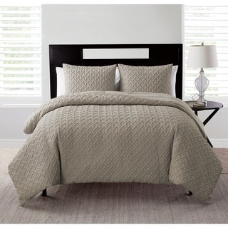 Nina Embossed 3-piece Comforter Set