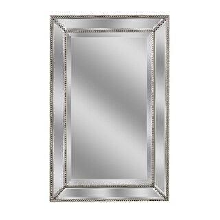 Headwest Metro Beaded Wall Mirror - Champagne/Silver - 24 X 36