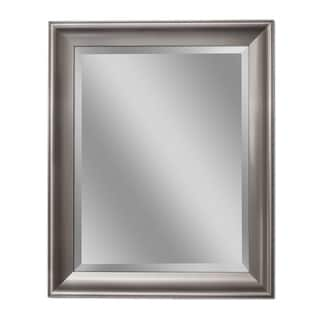 Headwest Transitional Brush Nickel Wall Mirror