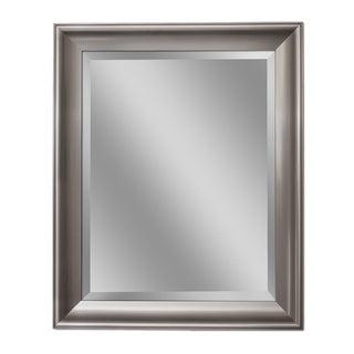 Headwest Transitional Brush Nickel Wall Mirror - Brushed Nickel - 28 X 34