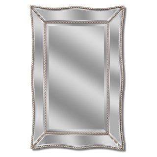 Headwest Scallopped Metro Beaded Wall Mirror