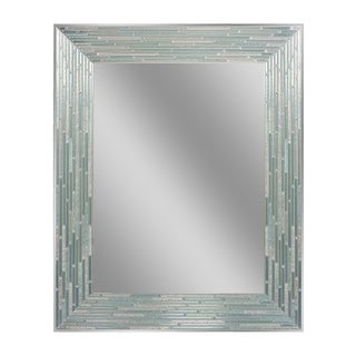Headwest Reeded Sea Glass Rectangle Wall Mirror
