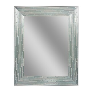 Headwest Reeded Sea Glass Rectangle Wall Mirror - Blue/Green - 24 X 30