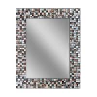 Headwest Earthtone Copper Bronze Mosaic Wall Mirror