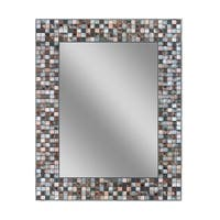 Headwest Earthtone Copper Bronze Mosaic Wall Mirror - Multi - 24 X 30