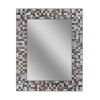 Headwest Earthtone Copper Bronze Mosaic Wall Mirror - Multi - 24 X 30